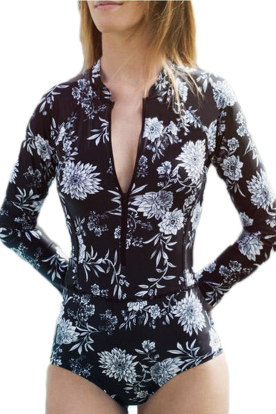 Surf Floral One Piece Swimsuit