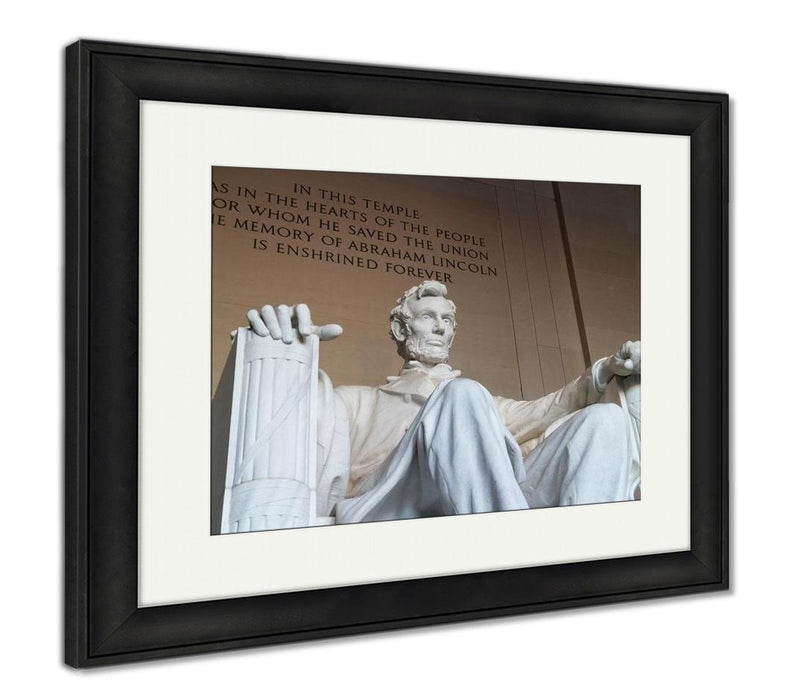 Framed Print, The Statue Of Abraham Lincoln
