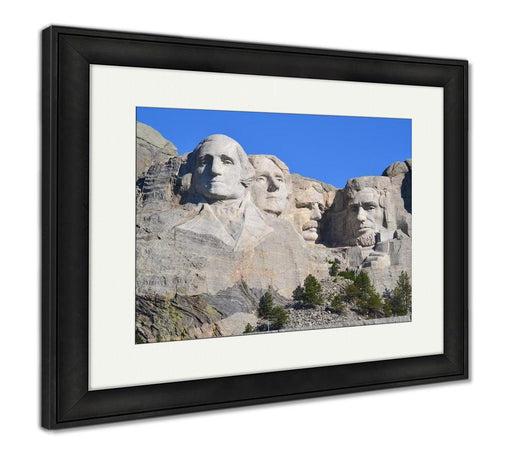 Framed Print, Mt Rushmore