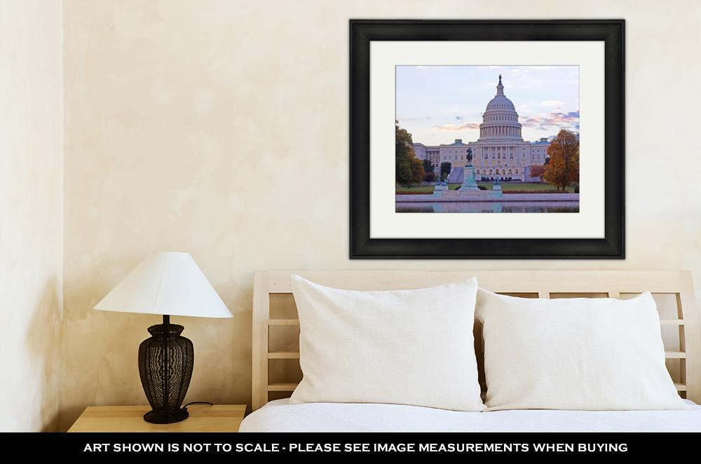 Framed Print, Us Capitol Building