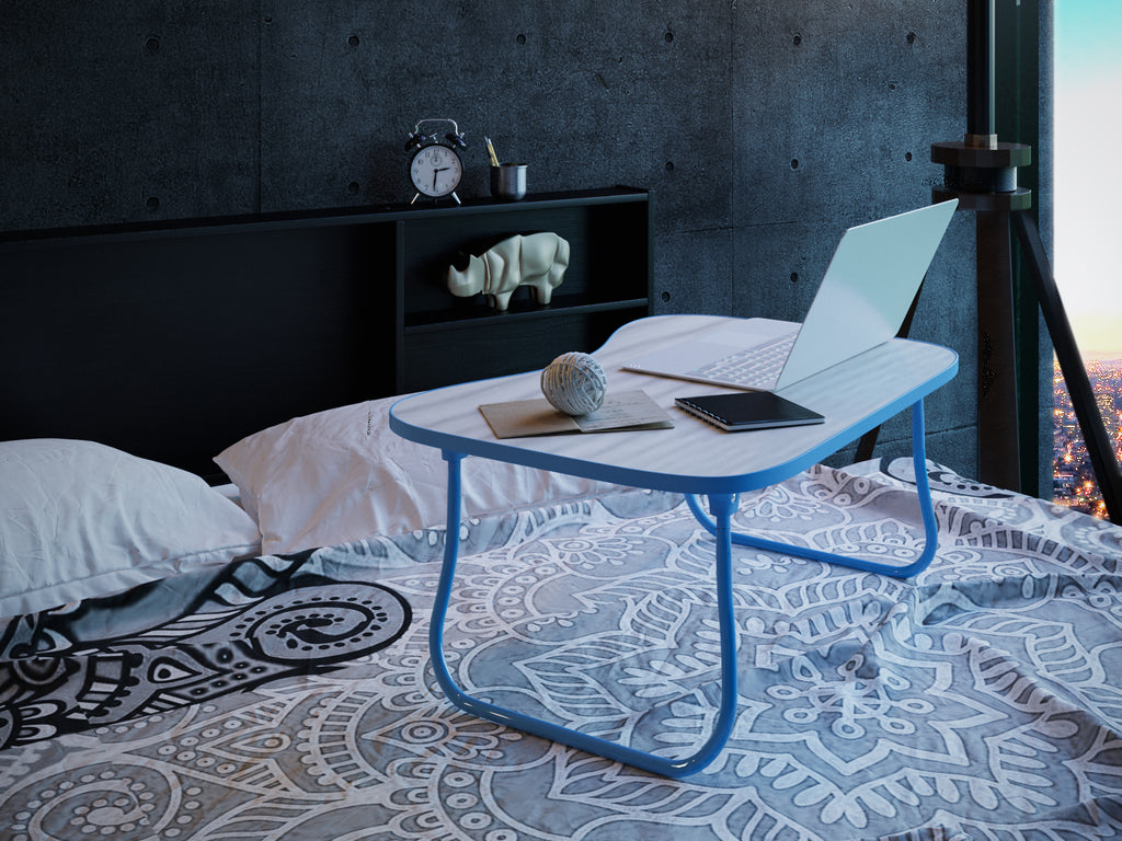 Blue Zoey Laptop Table from Forzza Furniture