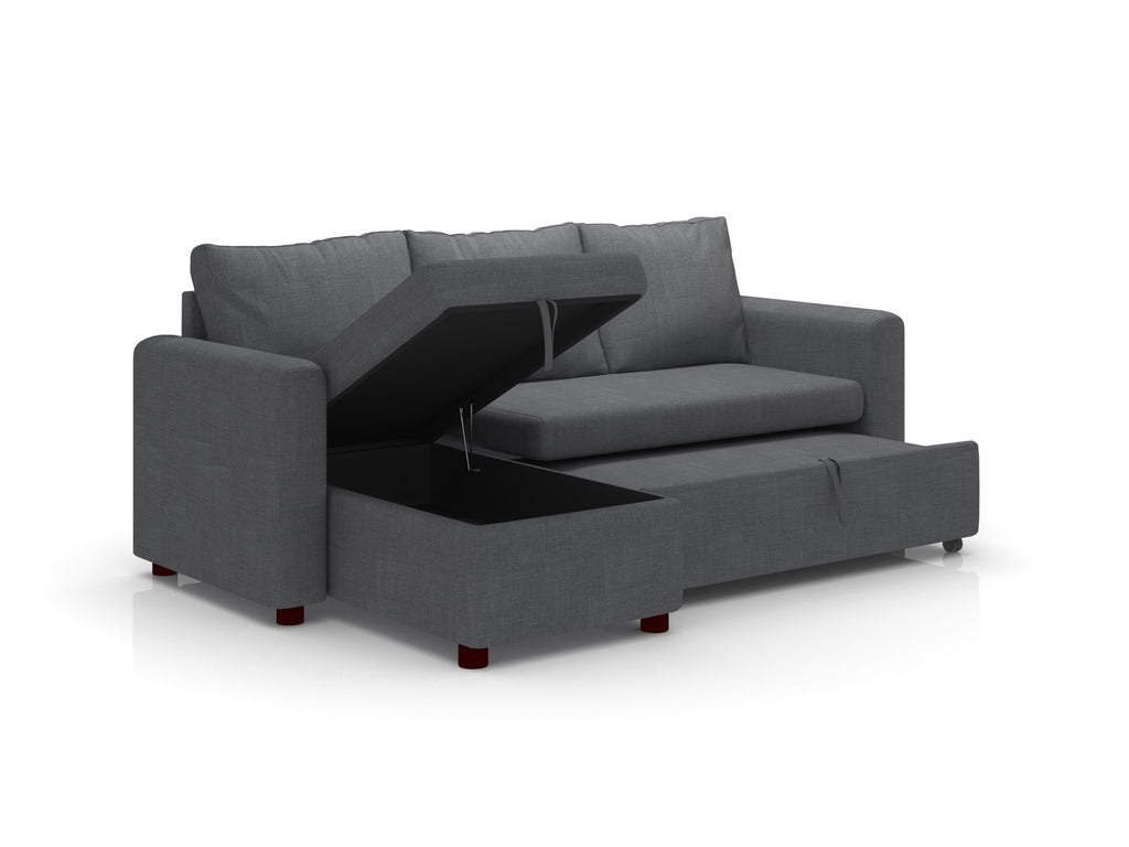 Grey Princeton Sofa cum Bed with Storage from Forzza Furniture