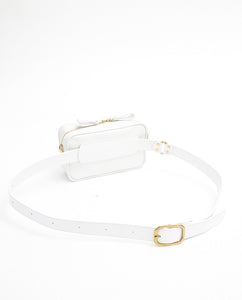 Waist Bag Soft with Shoulder Strap - S / Smooth White - (ki:ts)