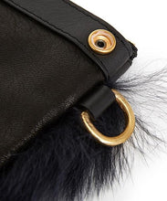 画像をギャラリービューアに読み込む, Fold Purse with Shoulder Strap / Navy Shearling & Black - (ki:ts)
