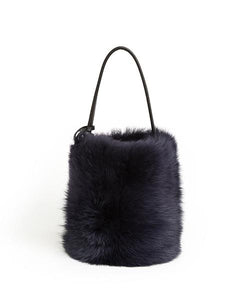 I-O Fur Bucket - S / Navy Shearling & Black - (ki:ts)