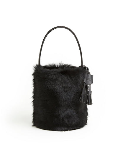 I-O Fur Bucket - S / Black Shearling & Black - (ki:ts)