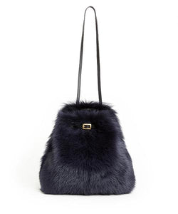 Tie Shopper - S / Navy Shearling & Black - (ki:ts)