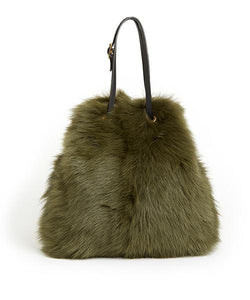 Tie Shopper - S / Olive Shearling & Black - (ki:ts)