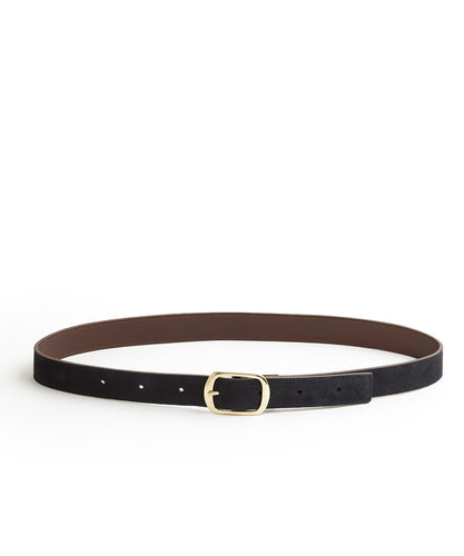 Suede Contrast Belt - 30 / Midnight & Dark Brown - (ki:ts)