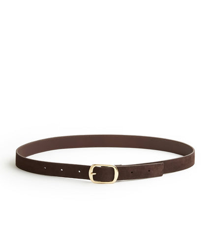 Suede Contrast Belt - 30 / Chocolate & Dark Brown - (ki:ts)