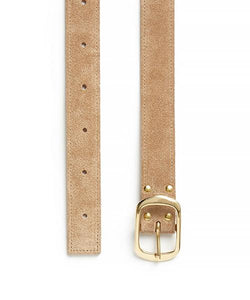 Suede Contrast Belt - 30 / Fawn & Natural - (ki:ts)