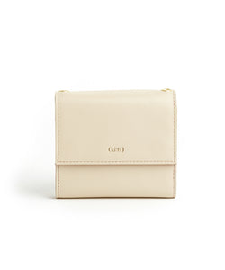 Contrast Wallet / Cafe Latte - Cherry Red - (ki:ts)
