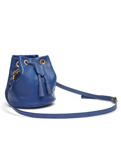 Drawstring Bag with 2 Way Shoulder Strap - S / Estate Blue - (ki:ts)