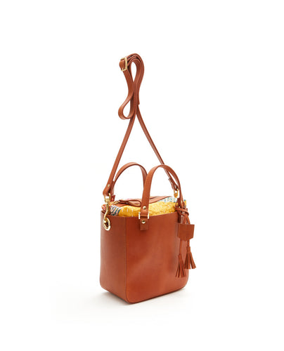 SQ Hand Bag with Pouch / Tan - (ki:ts)