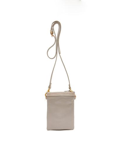 Fold Purse with shoulder strap / Stone - (ki:ts)