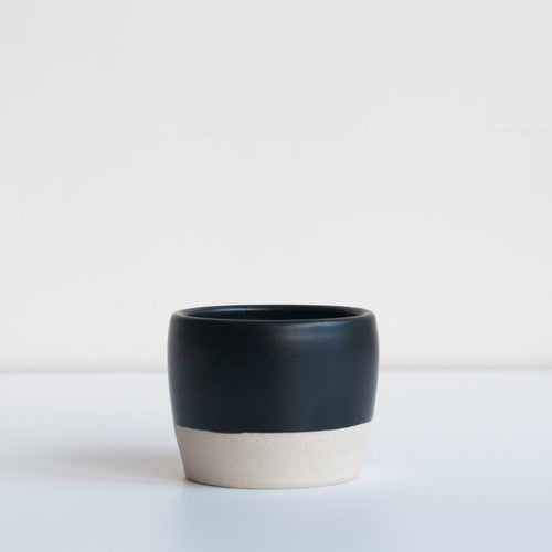 TEA BOWL / MATTE BLACK - DOR & TAN