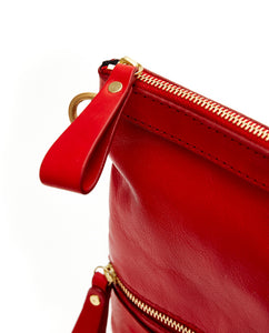 Fold Purse with shoulder strap / Cherry Red - (ki:ts)