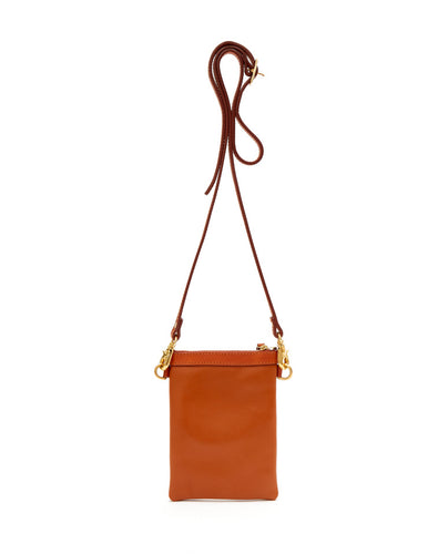 Fold Purse with shoulder strap / Caramel - (ki:ts)