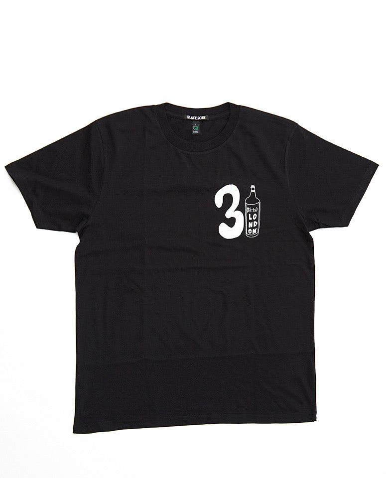 31 Wine Bottle T-shirt / Black - (ki:ts) x Black Score
