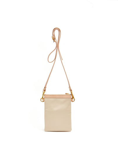 Fold Purse with shoulder strap / Cafe Latte - (ki:ts)