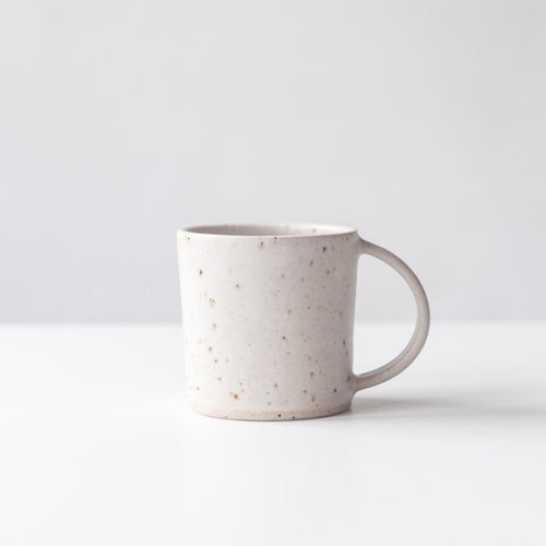 MUG / MATTE WHITE & SPECKLED - DOR & TAN