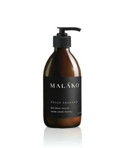 Fully Charged All-Over Lotion (Glass Bottle) - MALAKO