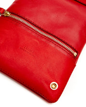 画像をギャラリービューアに読み込む, Fold Purse with shoulder strap / Cherry Red - (ki:ts)