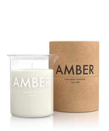 Amber Scented Candle (200g) - Laboratory Perfumes