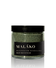 画像をギャラリービューアに読み込む, Fully Charged Magnesium Spirulina Bath Salt & Scrub - MALAKO