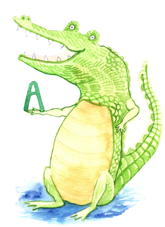 A is for Alligator - Print