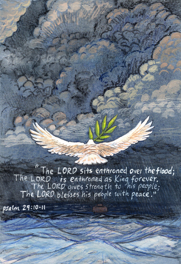 The Lord Sits Enthroned Over the Flood - Art Print