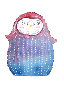Jellyfish Owl - Art Print