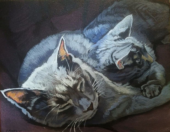 Original Pet Portrait - Cat Portrait Painting on Canvas