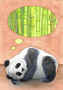Panda Bear baby room decor, nursery wall decor, nursery wall art, woodland nursery decor, nursery themed, nursery art, baby boy room decor, woodland creatures nursery, jungle theme nursery