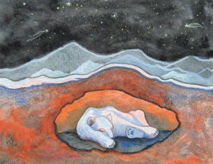 Polar Bear's Hibernation - Art Print