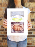 Brown Bear Dreaming of Spring - Art Print