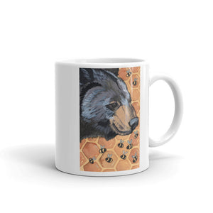 Black Bear and Bees Mug