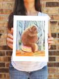 Coffee Party With a Porcupine - Art Print