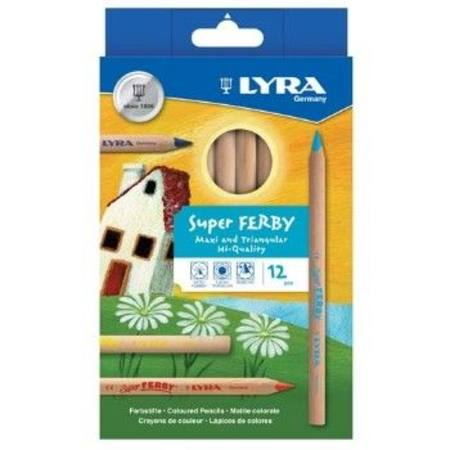 Lyra Super Ferby unlacquered   pencils ~ 12 assorted colours