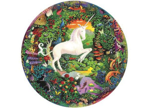 500 piece Round Unicorn Puzzle
