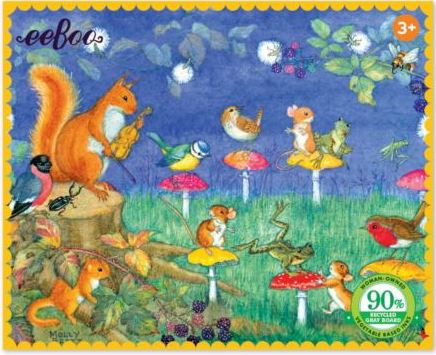 Eeboo 36 piece MINI Puzzle ~ Firefly Party