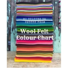 Load image into Gallery viewer, wool felt colour chart to choose from ~ click thru the link below