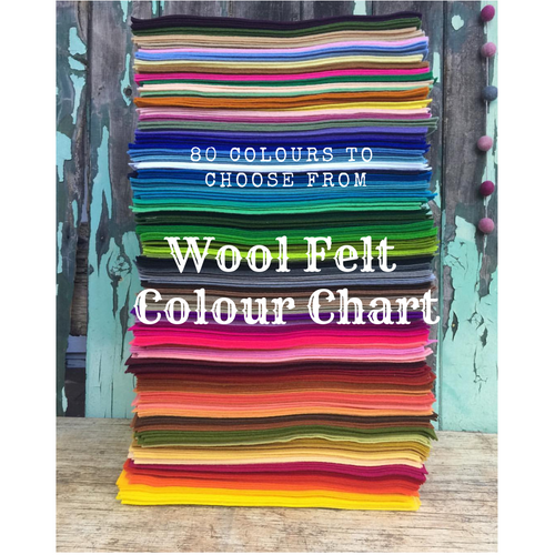 wool felt colour chart to choose from ~ click thru the link below
