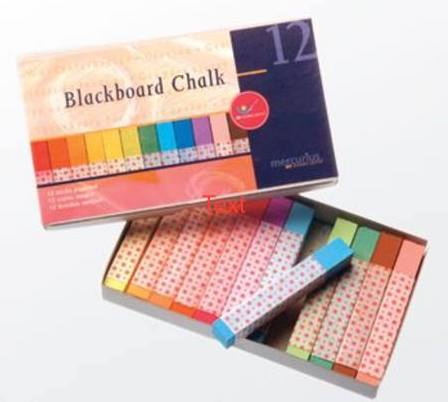 Blackboard Pastel Chalk Assorted colour box of 12