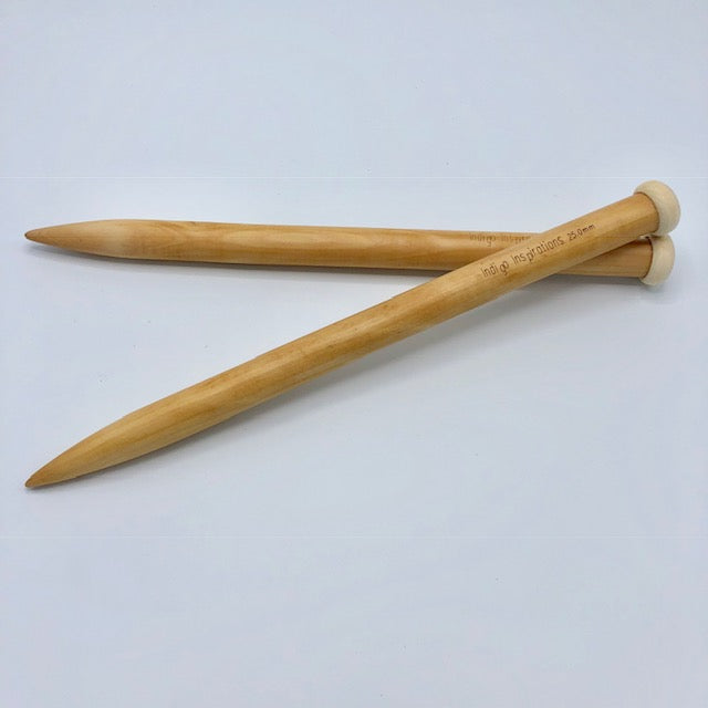 25mm bamboo knitting needles