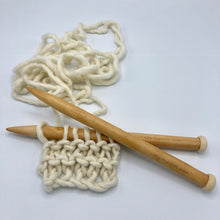 Load image into Gallery viewer, 25mm bamboo knitting needles