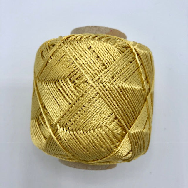 Gold 3 ply rayon crochet yarn
