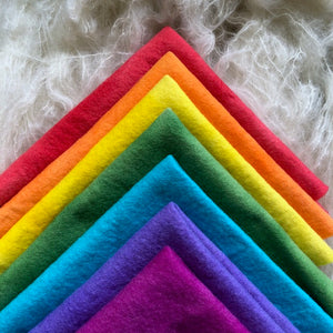 7 piece bundle ~ Spring Rainbow colours ~ various sizes