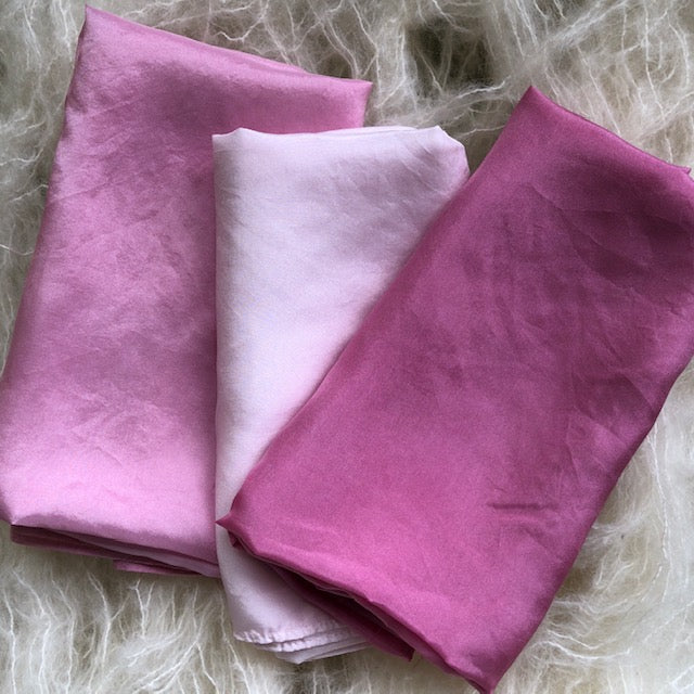 Pink 3 pack ~ Silk Playcloths