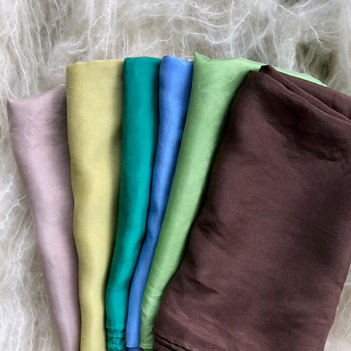 Earth~Sky~Water ~ Silk Playcloths (single colours or 6 piece pack)